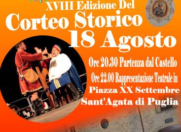 Sant'Agata, diciottesima edizione del Corteo Storico – 18 Agosto