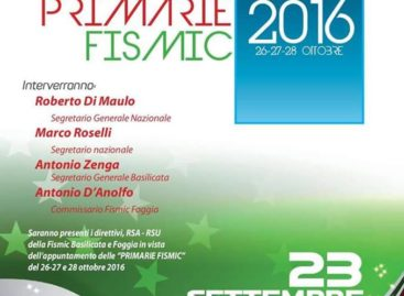 FISMIC: A CANDELA PER LE PRIMARIE DEL SINDACATO