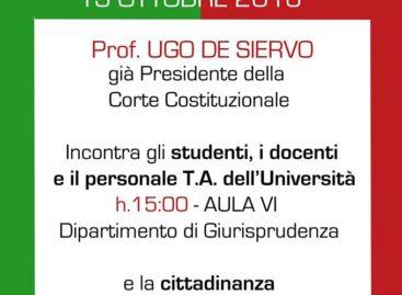 Comitato per il NO, a Foggia il costituzionalista Ugo De Siervo