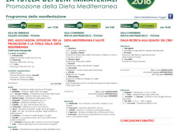 lLa tutela dei beni immateriali. Promozione della Dieta Mediterranea