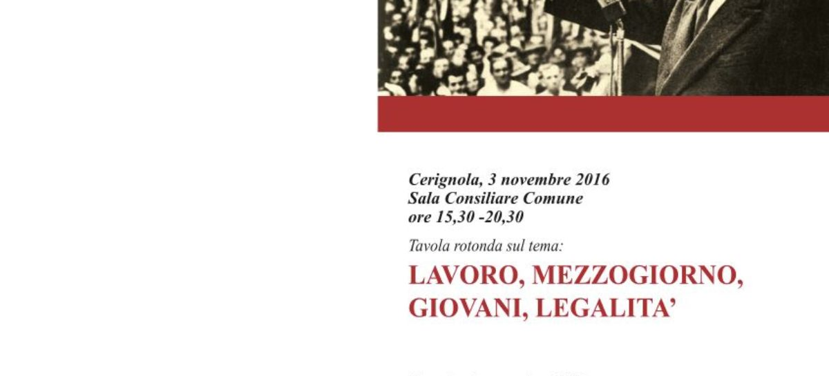 A Cerignola e Foggia da tutta Italia per l'omaggio a Di Vittorio