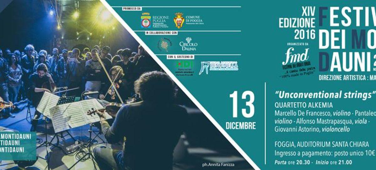 Foggi, Alkemia Quartet a Foggia per il Festival dei Monti Dauni – Winter edition – 13 Dicembre