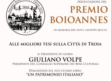 """Troia, nasce il Premio """"Boioannes"""" per le migliori tesi sulla Città di Troia – 27 Dicembre"""