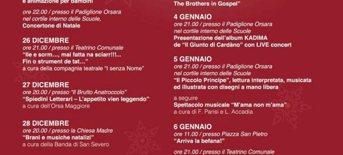 Il Natale a Orsara: 19 date, 23 eventi e la via dello shopping