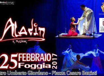 Aladin il Musical in scena al Teatro Giordano – 25 Febbraio