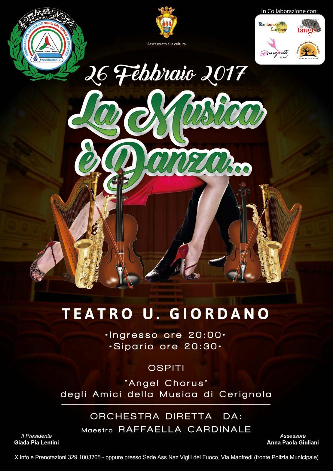 """La musica è danza"""": il 26 febbraio l'Orchestra Ottava Nota in concerto"""