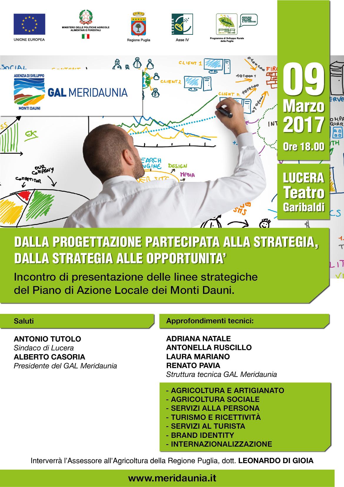 Piano di Sviluppo Locale del GAL Meridaunia: Presentazione linee strategiche