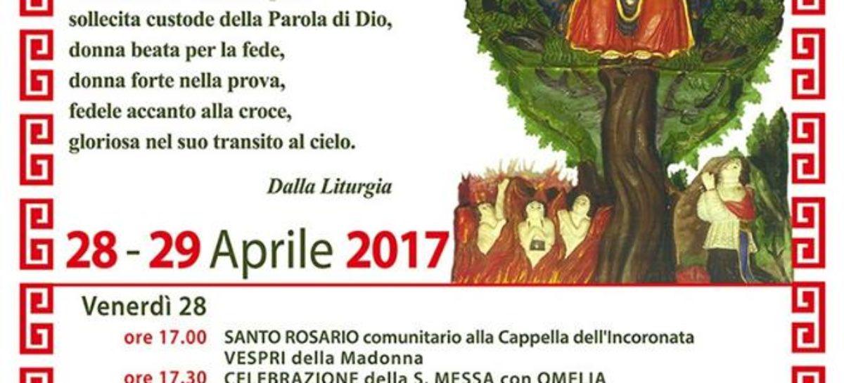 FESTA DELLA MADRE DI DIO INCORONATA 28 – 29 Aprile 2017 Mattinata