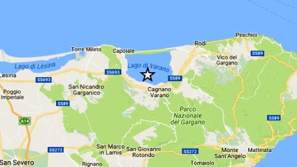 Gargano, scossa di terremoto di Magnitudo 4 avvertita alle 6.25 di oggi