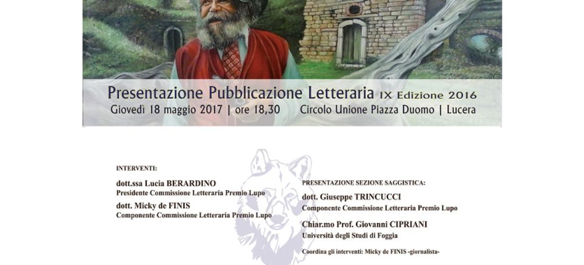 """Il """"Lupo"""" a Lucera con un'antologia di racconti"""
