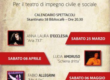 """Troia, """"Me è l'Io""""_ Sabato 6 maggio il Terzo monologo in concorso per il Premio Skantinato."""