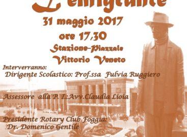 """""""IL VIAGGIATORE"""" ALLA STAZIONE DI FOGGIA – Mercoledì 31 Maggio"""