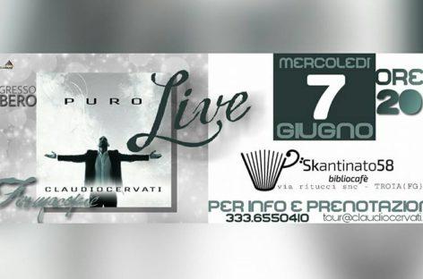 Mercoledì 7 Giugno dallo Skantinato di Troia parte l'InStore Tour di Claudio Cervati