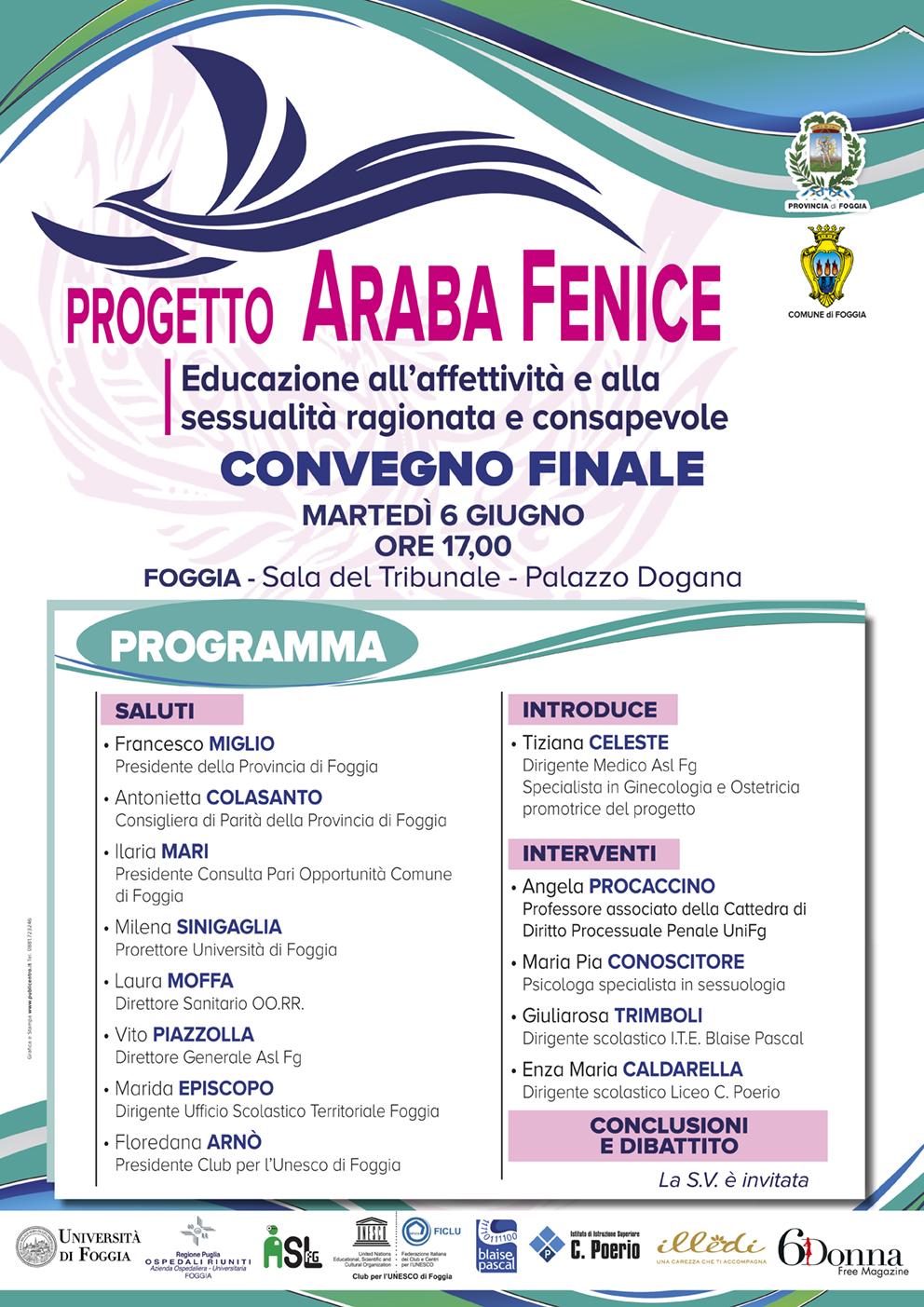 Araba Fenice: in un convegno i risultati del progetto di educazione all'affettività