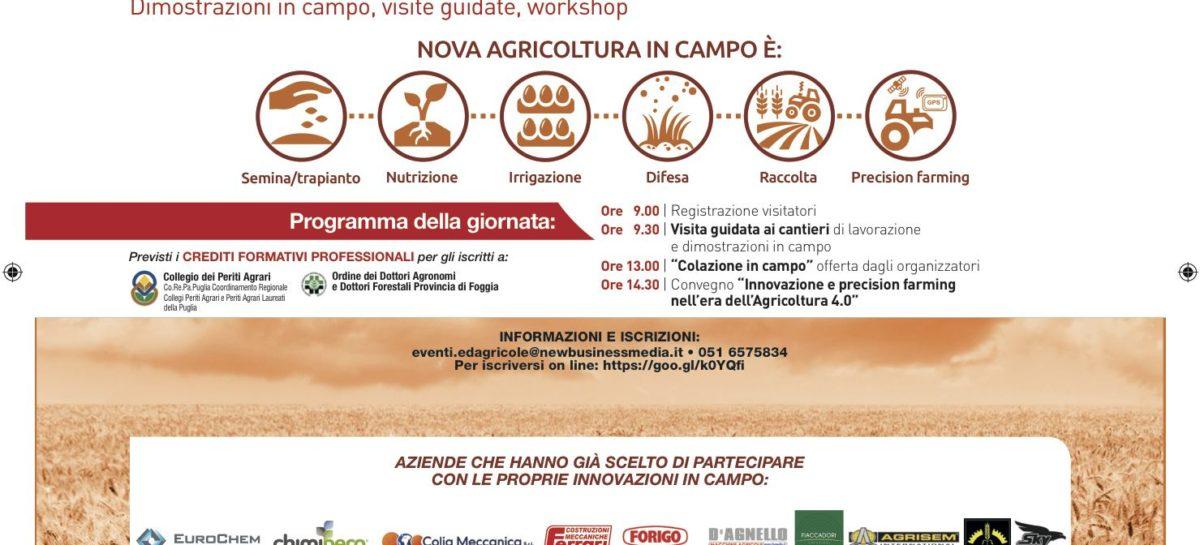 Nova Agricoltura e il ministro Martina a Foggia il 20 luglio