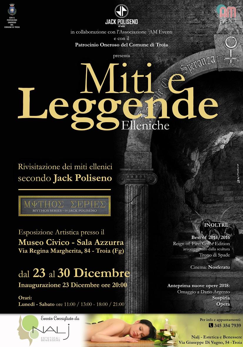 Esposizione artistica MITI E LEGGENDE a Troia