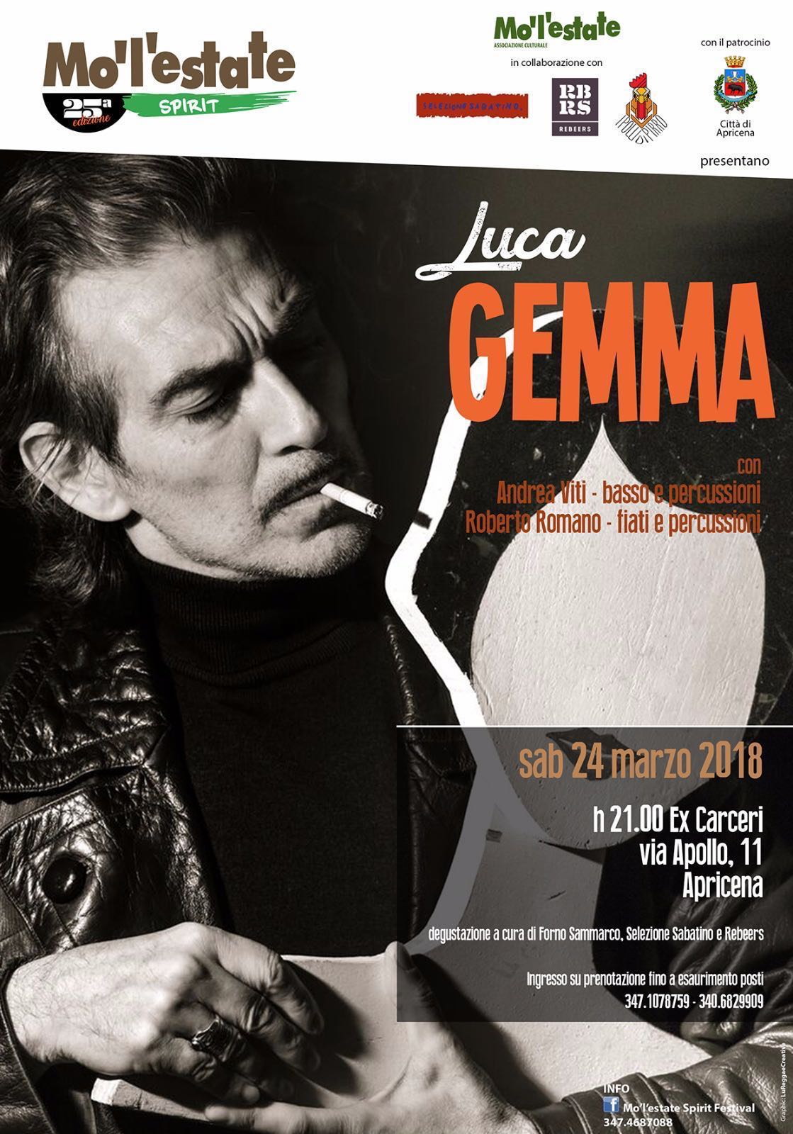 Luca Gemma ad Apricena per Mo'l'estate Spirit Festival