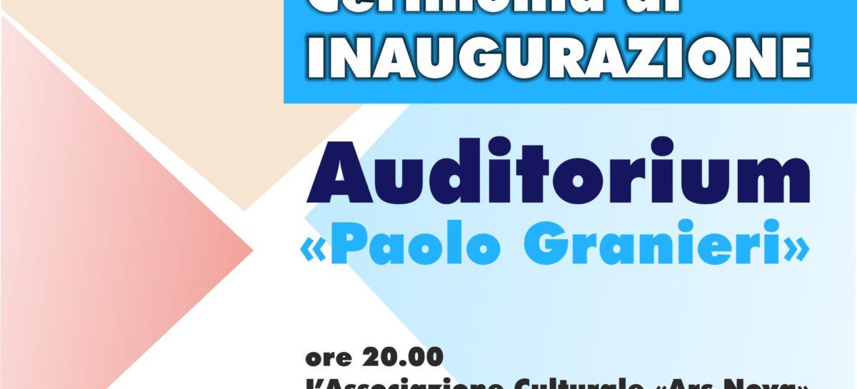 """Cerimonia di inaugurazione dell'Auditorium """"Paolo Granieri"""""""