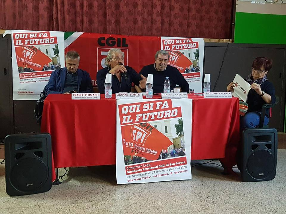 San Severo, congresso SPI: pensioni minime in Capitanata