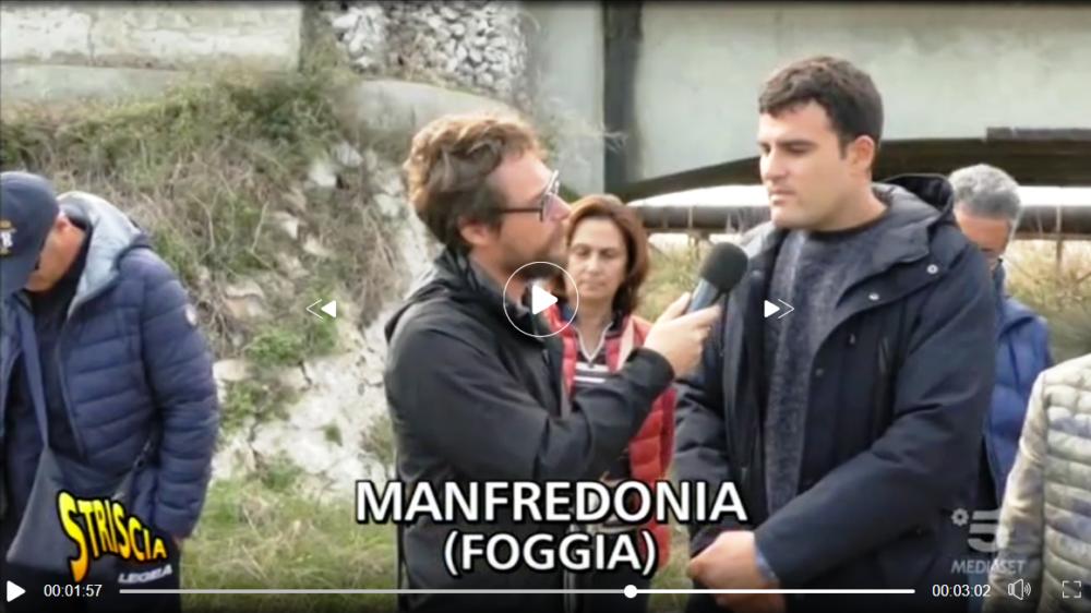 """A Manfredonia per le fogne arriva """"Striscia la Notizia"""" con il giornalista Pinuccio"""