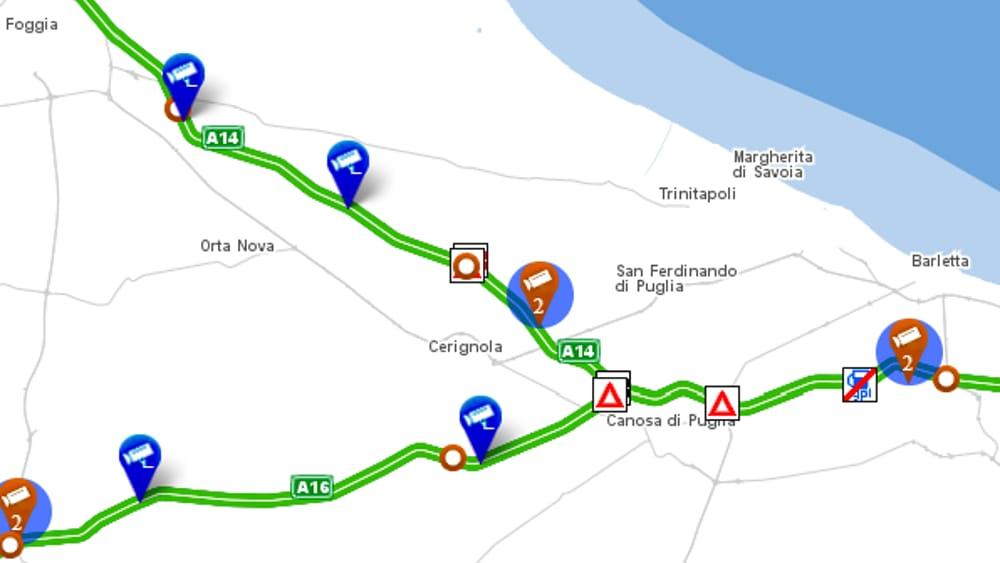 Cerignola: terrore in autostrada squadra di rapinatori armati assaltano portavalori al casello di Canosa code a Cerignola est