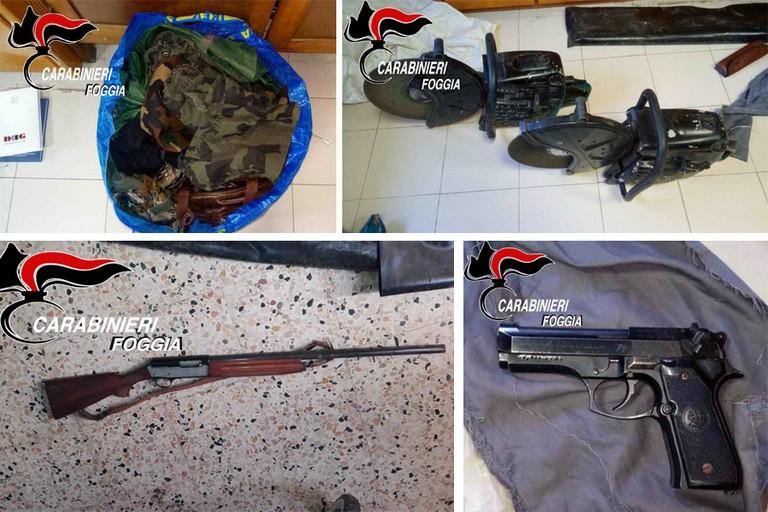 Cerignola: arrestano un settantenne per possesso di armi con varie attrezzature per gli attacchi ai furgoni portavalori