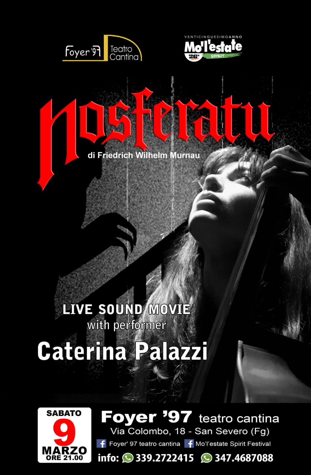 NOSFERATU: LIVE SOUND MOVIE CON CATERINA PALAZZI