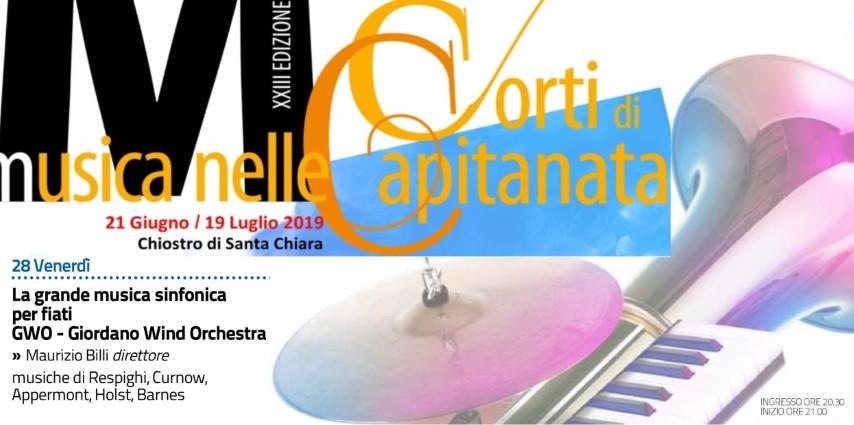 PER CORTI DI CAPITANATA LA GIORDANO WIND ORCHESTRA: LA GRANDE MUSICA SINFONICA PER FIATI, DIRETTA DAL MAESTRO BILLI