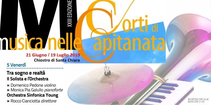MUSICA NELLE CORTI DI CAPITANATA: TOCCA AI GIOVANI SOLISTI, CON L'ORCHESTRA SINFONICA YOUNG, DIRETTA DAL M° CIANCIOTTA
